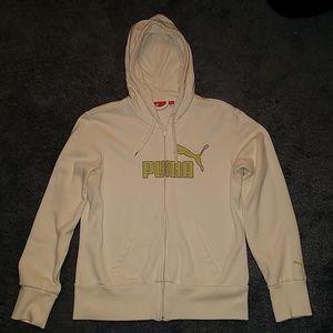 Puma hooded zip up sweatshirt